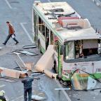 В Москве из-за взрыва баллона с метаном на крыше  пассажирского транспорта пострадали двое прохожих (май 2013 года).